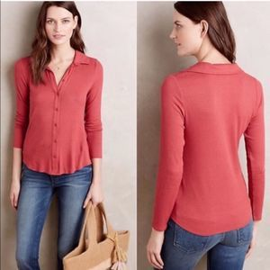 Anthro Postmark Westwood Ribbed Button Down